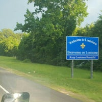 Photo taken at Louisiana / Texas State Line by FIREGUYGARY . on 6/28/2016