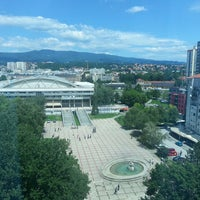 Photo taken at Panorama Zagreb Hotel by Velibor D. on 6/12/2013