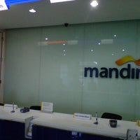 Photo taken at Bank Mandiri by Arya S. on 7/31/2013
