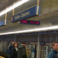 Photo taken at Stadium - Chinatown SkyTrain Station by Daniel C. on 3/10/2013