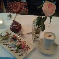 Photo taken at Mon Petit Café by Elena G. on 8/19/2013