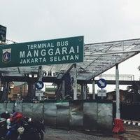 Photo taken at Halte TransJakarta Manggarai by Farazenia L. on 1/29/2014
