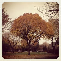 Photo taken at Parc Beaubien by Maxime-Olivier H. on 10/28/2012