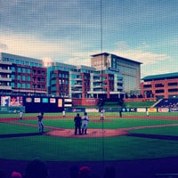 Photo taken at Durham Bulls Athletic Park by Jackie B. on 7/13/2013