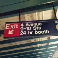 Photo taken at MTA Subway - 4th Ave/9th St (F/G/R) by Matt W. on 3/16/2013