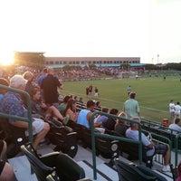 Photo taken at Corbett Soccer Stadium by Eugene C. on 8/24/2013