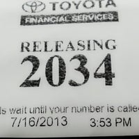 ... Photo Taken At Toyota Financial Services By Cristy D. On 7/16/2013 ...
