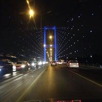 Photo taken at Bosphorus Bridge by Ali Kemal Y. on 11/1/2013