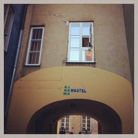 Photo taken at Kanonia Hostel Warsaw by Ferihan H. on 5/9/2013