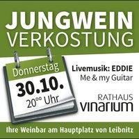 Photo taken at Rathaus Vinarium Wein-Gin-Rum-Whisky-Bar by Gerhard U. on 10/28/2014