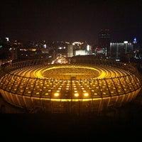 Photo taken at Olimpiyskiy Stadium by Dmitriy P. on 11/9/2013