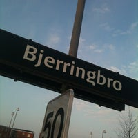 Photo taken at Bjerringbro Station by Martin R. on 1/15/2013