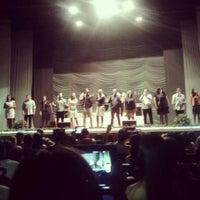 Photo taken at Auditório Yemanjá by Emily O. on 4/14/2013