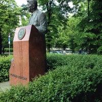 Photo taken at Pomnik Ronalda Regana by Dominik R. on 5/17/2014
