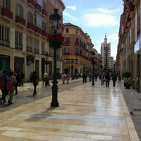 Photo taken at Marqués de Larios Street by Kata E. on 4/2/2013