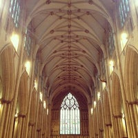 Photo taken at York Minster by Chris M. on 2/9/2013