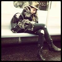 Photo taken at MTA Subway - M Train by Ali W. on 4/11/2012