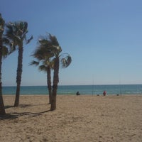 Photo taken at Platja de Calafell by Sara M. on 3/29/2013