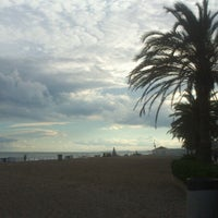 Photo taken at Platja de Calafell by Sara M. on 6/9/2013