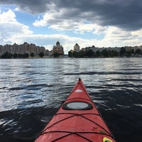 Photo taken at Залив на оболони by Анна Д. on 7/8/2018