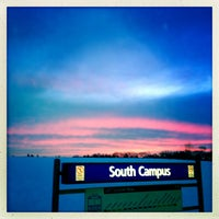 Photo taken at South Campus LRT Station by Jason C. on 1/4/2013