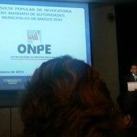 Photo taken at Auditorio Oficina Nacional de Procesos Electorales by Jorge A. on 3/19/2013
