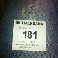 Photo taken at Halkbank by Mete G. on 3/5/2013