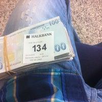 Photo taken at Halkbank by Mete G. on 4/1/2013