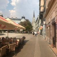 Photo taken at Pozorišni trg by Reza I. on 8/25/2018
