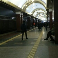 Photo taken at Станция метро «Проспект Победы» by Сашуля on 1/26/2013