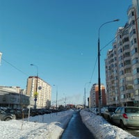 Photo taken at Микрорайон «Кожухово» by Rina K. on 2/5/2017