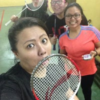 Photo taken at Palm Spring Badminton Court by Ellis Mohamad on 4/23/2015