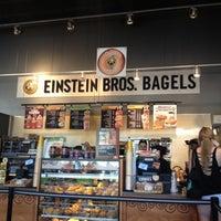 Photo taken at Einstein Bros Bagels by Salvador R. on 10/3/2012