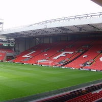 Photo taken at Anfield by Emmanuelle N. on 2/18/2013