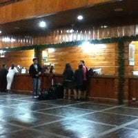 Photo taken at Banaue Hotel Lobby by Angela R. on 3/29/2013