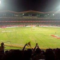 Photo taken at Jawaharlal Nehru Stadium by Manu J. on 2/9/2013