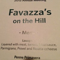 Photo taken at Favazza's by Lisa I. on 9/10/2013