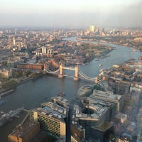 Photo taken at The View from The Shard by Steven E. on 6/1/2013