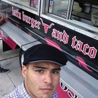 Photo taken at Latin Burger & Taco Truck by Manuel R. on 2/11/2013