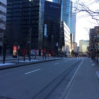 Photo taken at Avenue McGill College / McGill College Avenue by Maryse S. on 12/26/2015