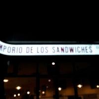 Photo taken at El Emporio de los Sandwiches by Alejandro R. on 2/27/2013