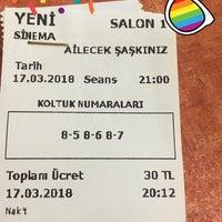 Photo taken at Yeni Sinema by C.ç C. on 3/17/2018