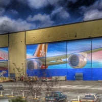 Photo taken at Boeing Everett Modification Center by Hakan T. on 3/4/2016