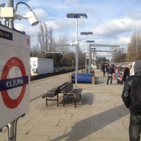 Photo taken at Kilburn London Underground Station by Lucky T. on 3/12/2013