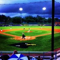 Photo taken at Kermit Johnson Baseball Field by Benjamin M. on 4/25/2013