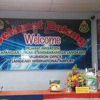 Photo taken at Pejabat Imigresen Lapangan Terbang Antarabangsa Langkawi by Firdaus S. on 4/19/2013