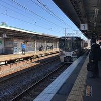 Photo taken at 美章園駅 1番のりば by Yoshiro T. on 5/17/2017