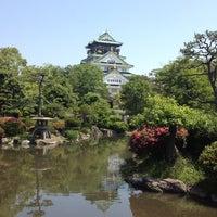 Photo taken at 大阪城日本庭園 by Yoshiro T. on 5/25/2013
