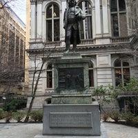 Photo taken at Benjamin Franklin Statue by Elliott L. on 3/23/2016