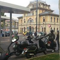 Photo taken at Stazione Bergamo by Annik S. on 4/23/2013